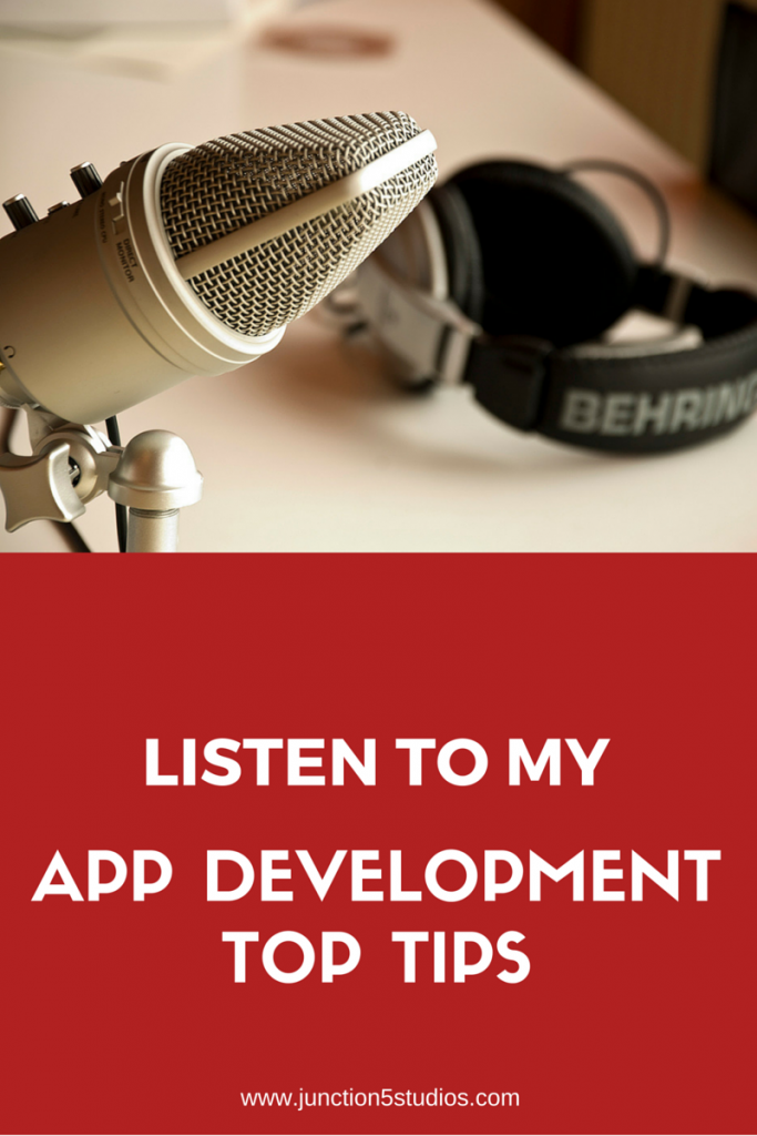 Listen to my top tips on app development