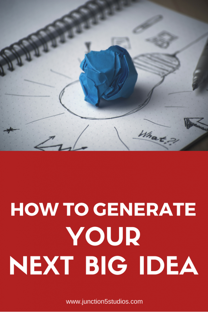 how to generate your next big idea
